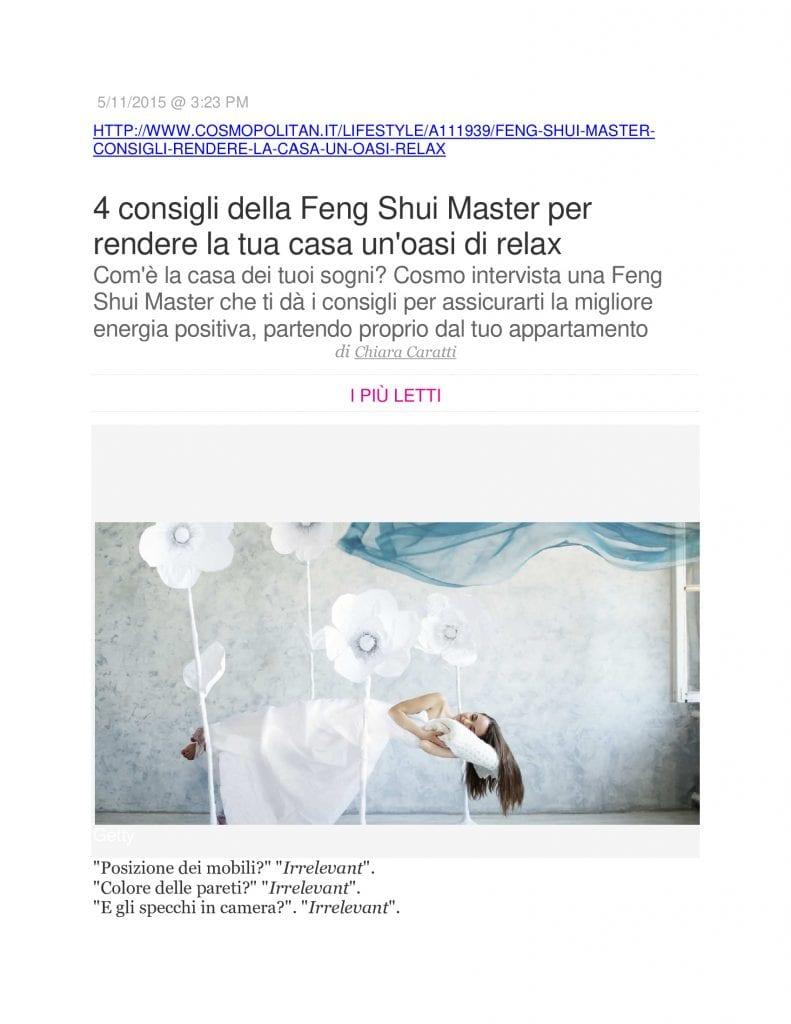 Feng Shui Article 2015.11.06